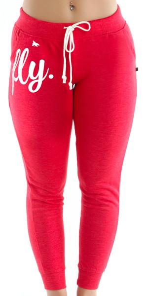 FLY. Fitted Joggers - Red