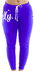 FLY. Fitted Joggers - Royal