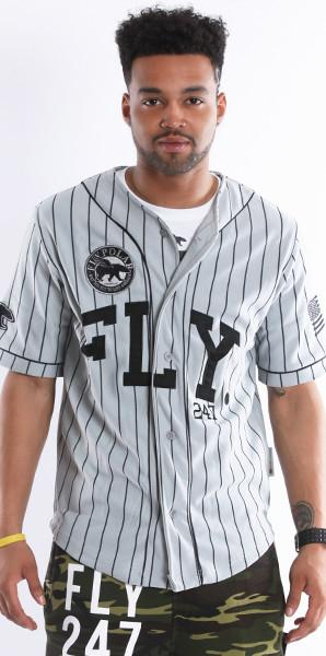 FLY 24/7 365 JERSEY - Grey w/ Black Pin Stripe