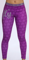 FLY. Leggings PURPLE/GREY