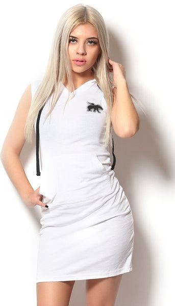 FLY. Lounging Dress: WHITE