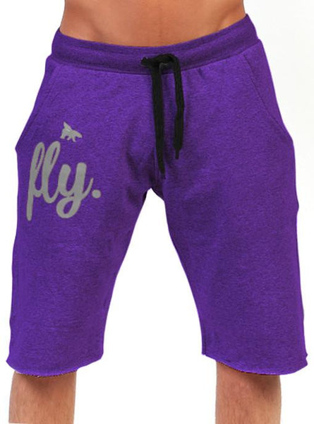 Mens FLY. Lounging Shorts: Purple