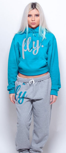 FLY. Comfort Sweats: Cali Blue/Grey  (UNISEX FIT)