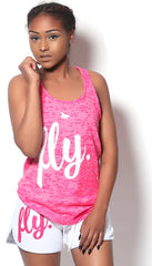 FLY. Tank - Burnout Pink/White