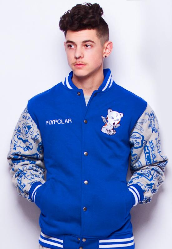 PROBLEM BEAR VARSITY JACKET (ROYAL)