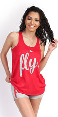 FLY. Tank & Shorts Outfit - Red/Grey