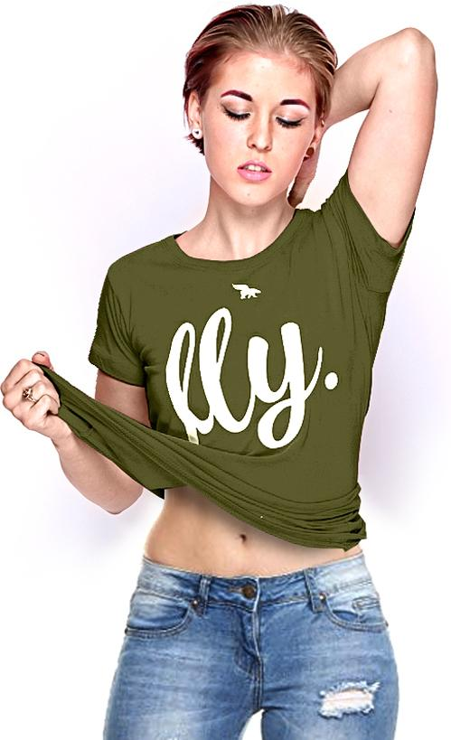 Fly. Lounging Tee: Military Green