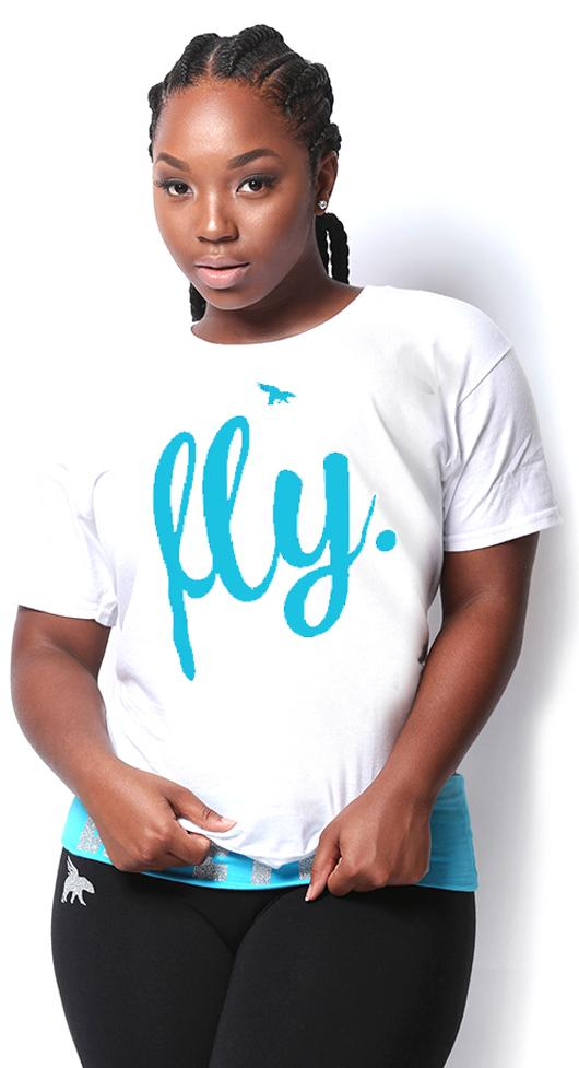 FREE Fly Classic Tee: White/Associated Print