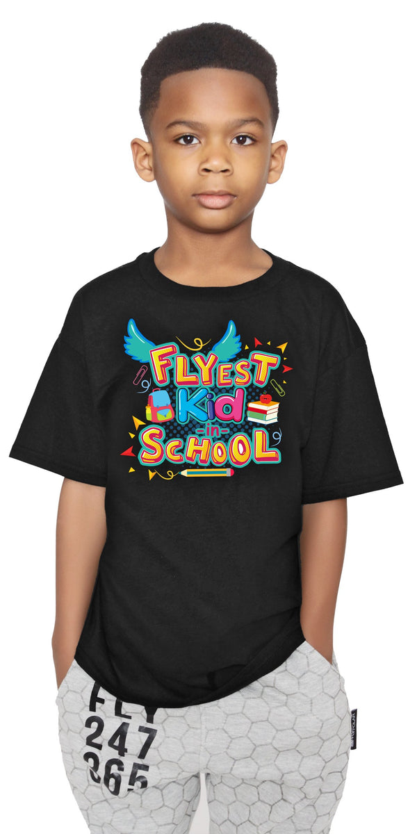 Flyest Kid in School Tee: Black