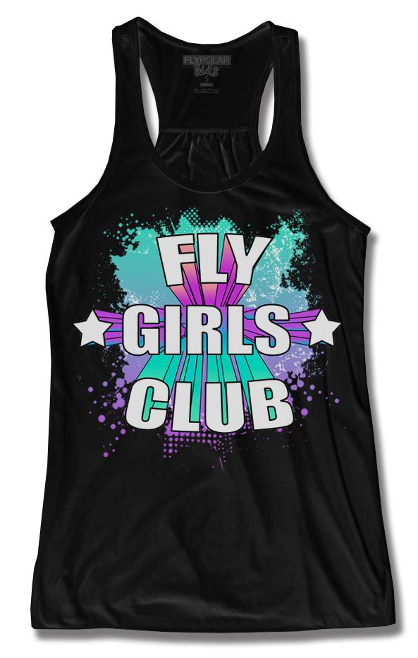 Fly Girls Club Tank: Black