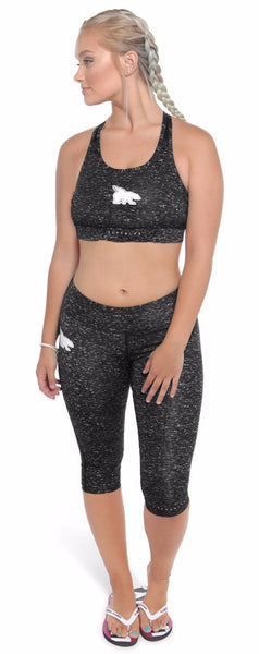 Space Dye Sports Bra & Capri Legging Combo