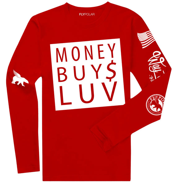 Money Buys Luv LONG SLEEVE (Red)