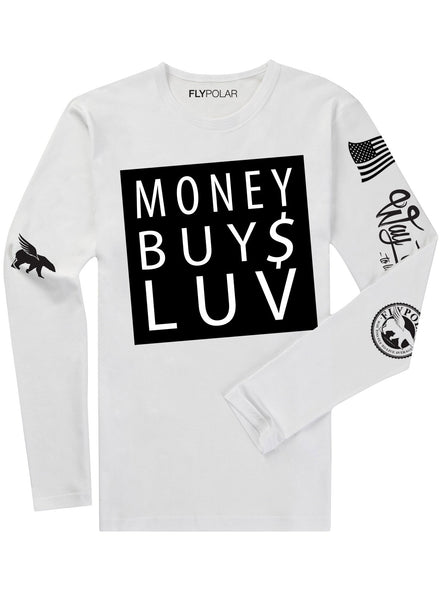 Money Buys Luv LONG SLEEVE (White)