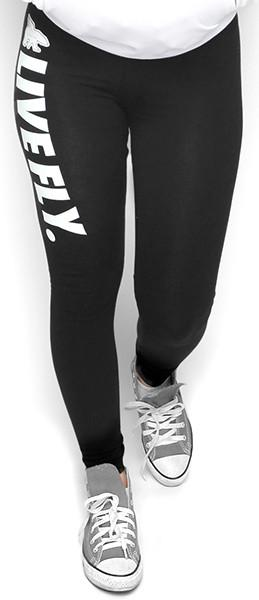 FOREVER LIVE FLY. Leggings WHITE Print