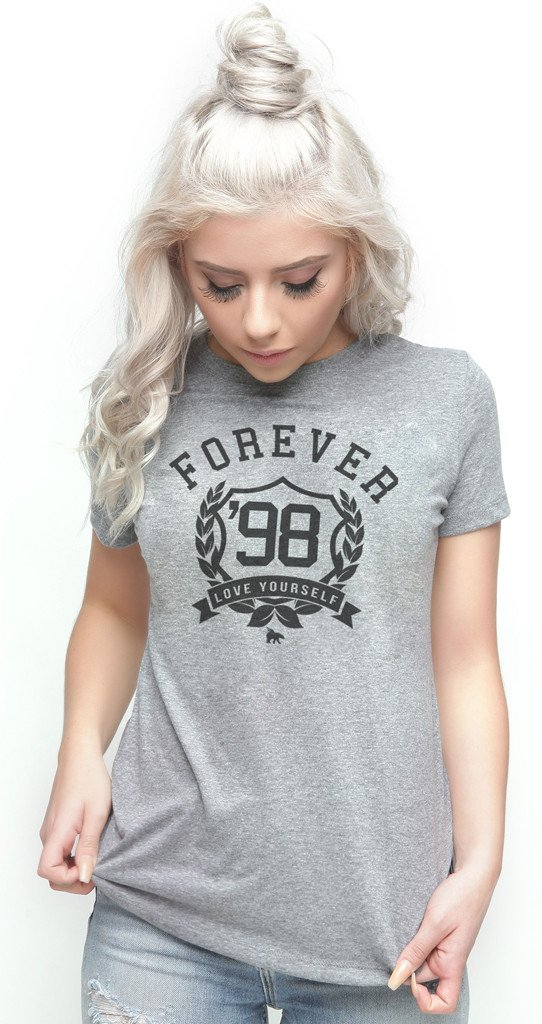 FOREVER LOVE YOURSELF TEE: GREY w