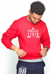 FOREVER LIVIN YOUNG CREWNECK: RED (UNISEX FIT)