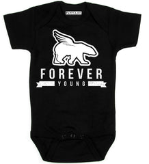FOREVER YOUNG Onesie: Black