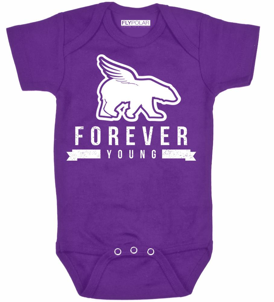 FOREVER YOUNG Onesie: Purple
