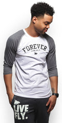 FOREVER LIVE FLY. Raglan: Grey/White