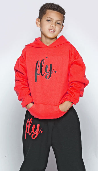 FLY. KIDS Comfort: Red/Black