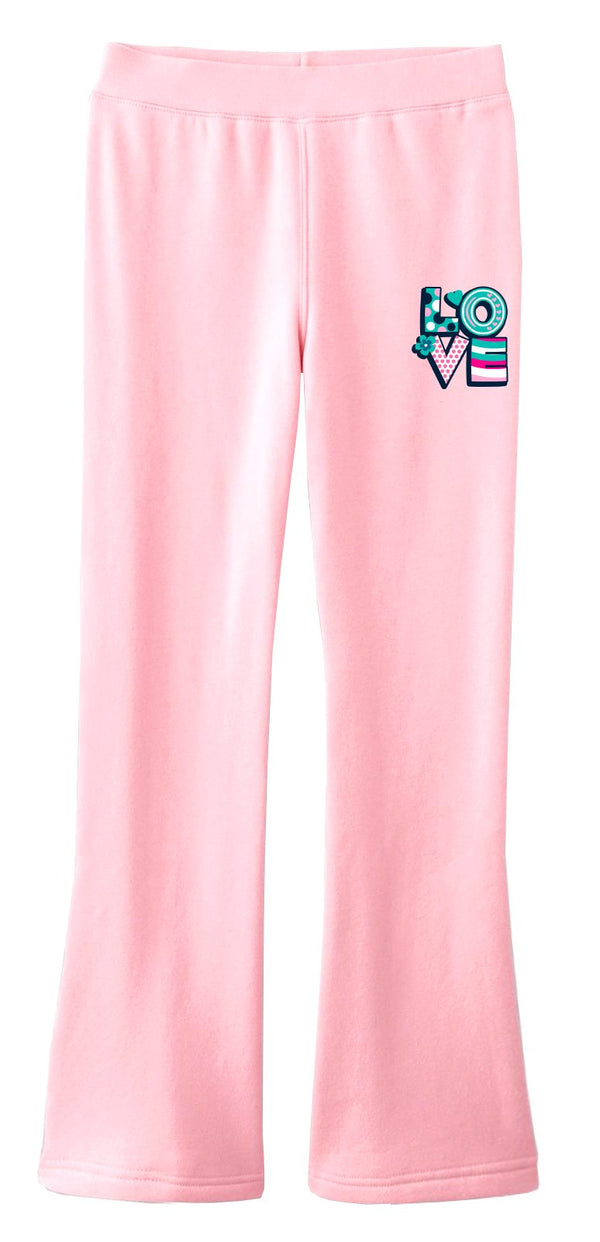Fly Girls Celebrate Love Fleece Dance Pants: Pink