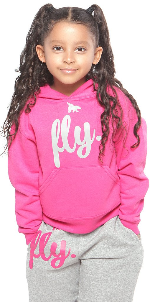 FLY. KIDS Comfort Outfit: Pink/Grey