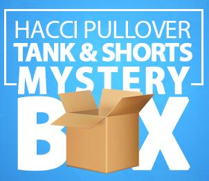 $100 HACCI PULLOVER, TANK & SHORTS MYSTERY BOX (Reg. $200)