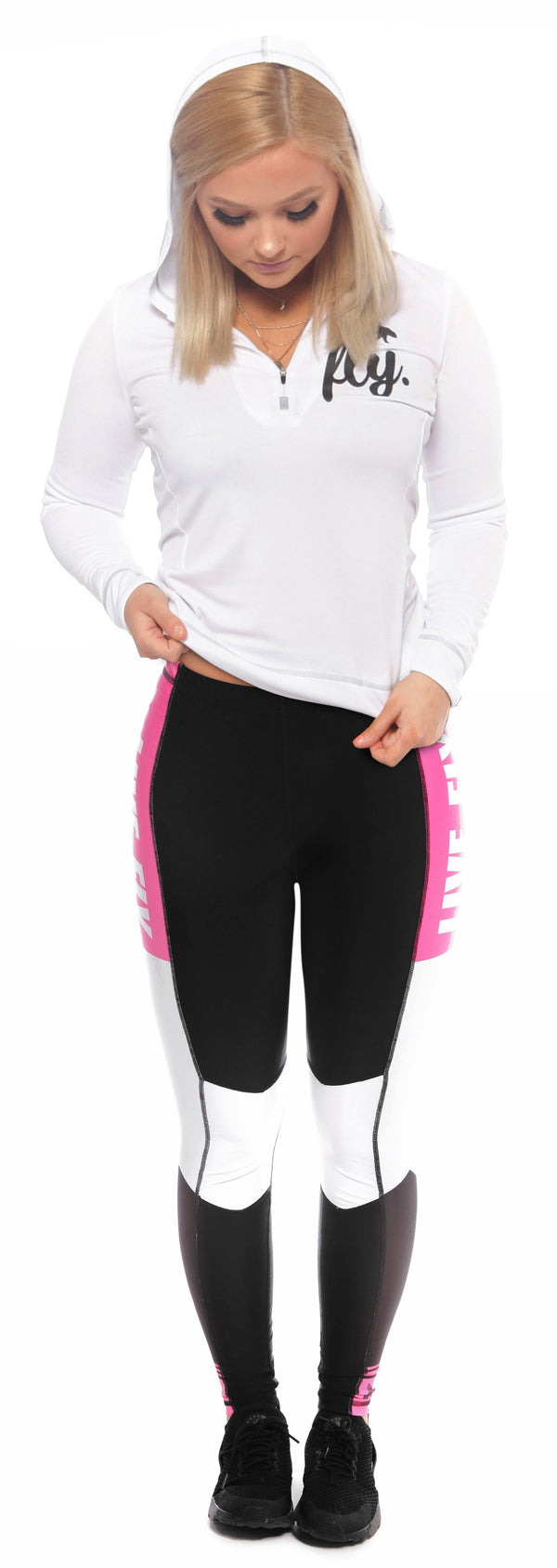 All Day Half-Zip Pullover & Color Block Mesh Leggings Combo
