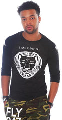 I AM KING BLACK RAGLAN