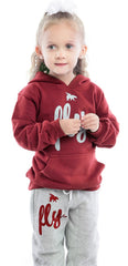 FLY. KIDS Comfort: Maroon/Grey