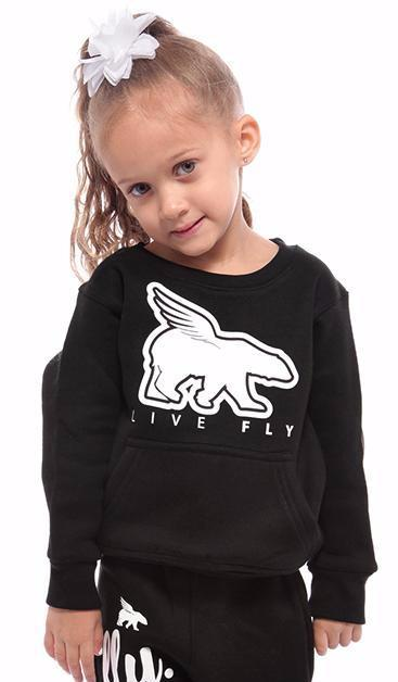 TODDLER POCKETED Crewneck: Black