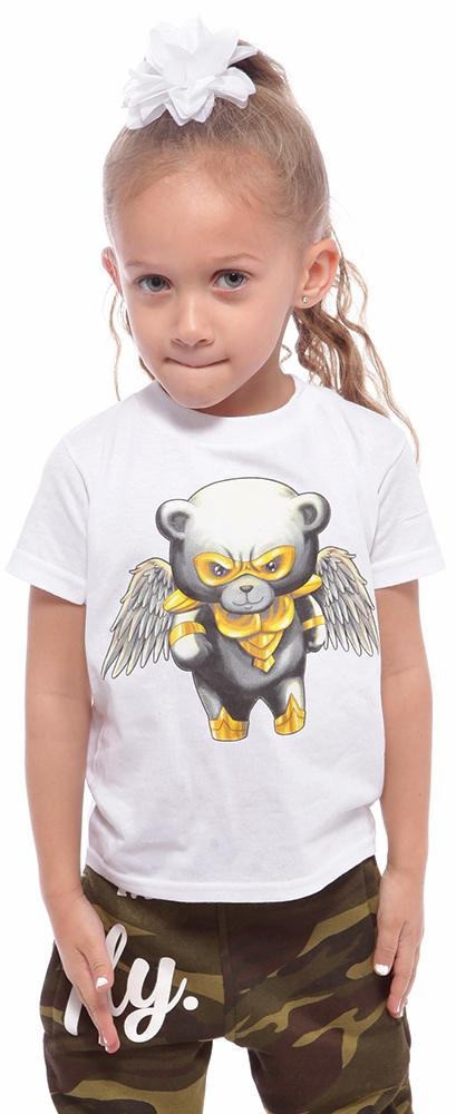 Toddler SUPER BEAR Tee: White