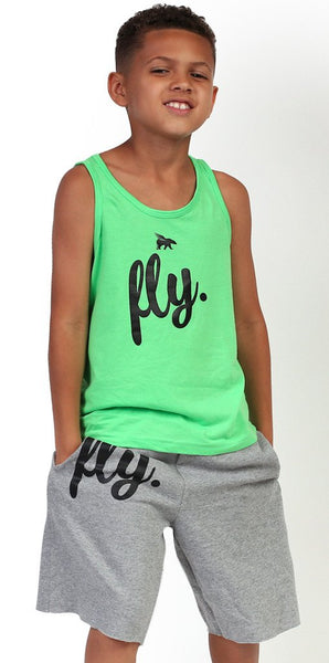 FLY. Kids Tank: LIME