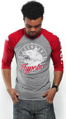 Legendary FLYPOLAR LIVE FLY. Raglan: Grey/Red