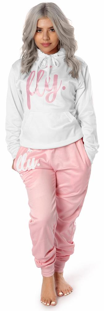 Lifestyle Comfort Hoodie OUTFIT: Perfect White/Cotton Candy