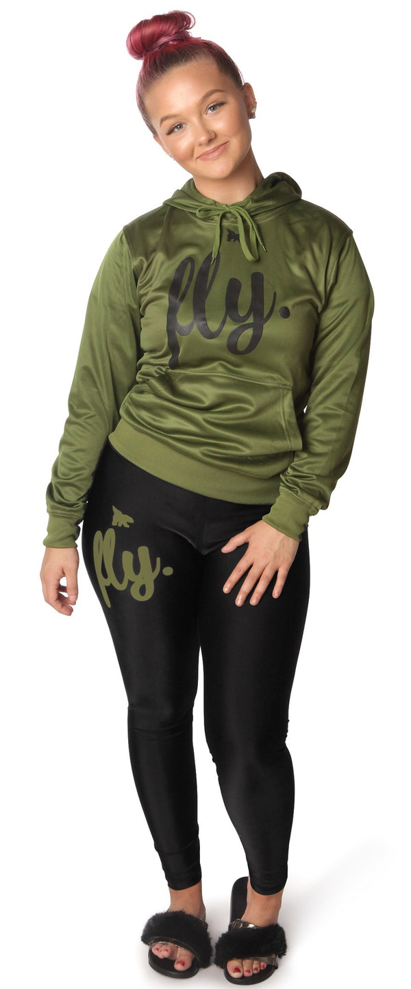 ***PRE-ORDER*** Lifestyle Legging OUTFIT: Military Green/Black