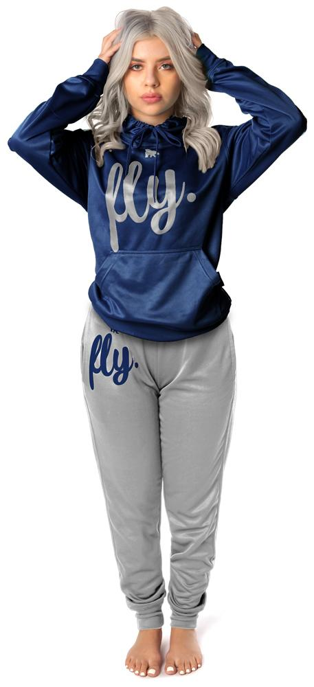 *LIMITED RELEASE* Lifestyle Comfort Hoodie OUTFIT: Navy's Blue/Silver Grey