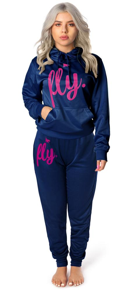 *LIMITED* Lifestyle Comfort Hoodie OUTFIT: Navy's Blue w/ Pink Print