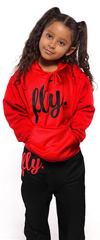Kids Lifestyle Comfort OUTFIT: Fiery Red/Black