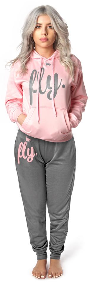 Lifestyle Comfort Hoodie OUTFIT: Cotton Candy/Silver' Grey