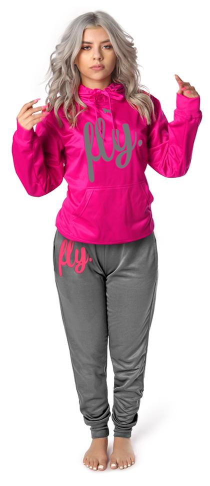 Lifestyle Comfort Hoodie OUTFIT: Very Pink/Silver' Grey