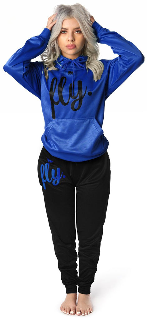 Lifestyle Comfort Hoodie OUTFIT: Ruby Blue/Jet Black