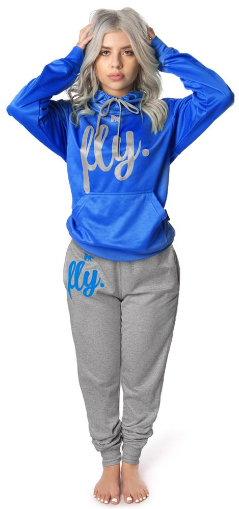***PRE-ORDER*** <br>Lifestyle Comfort Hoodie OUTFIT: Ruby Blue/Silver' Grey