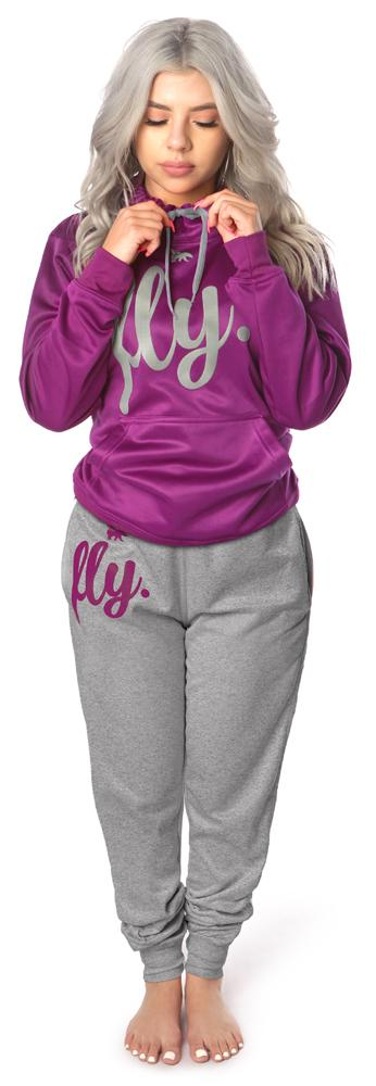 ***PRE-ORDER*** <br>Lifestyle Comfort Hoodie OUTFIT: Berry Purple/Silver' Grey