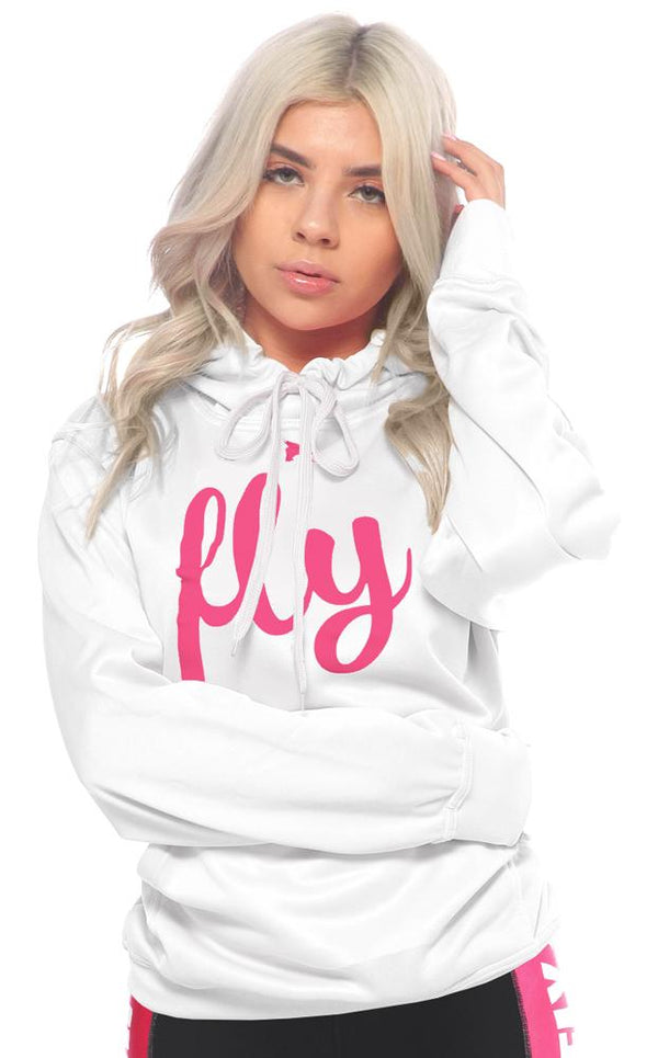 Lifestyle Comfort Hoodie: Perfect White/Pink