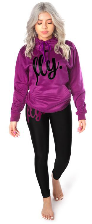 ***PRE-ORDER*** Lifestyle Legging OUTFIT: Berry Purple/Black