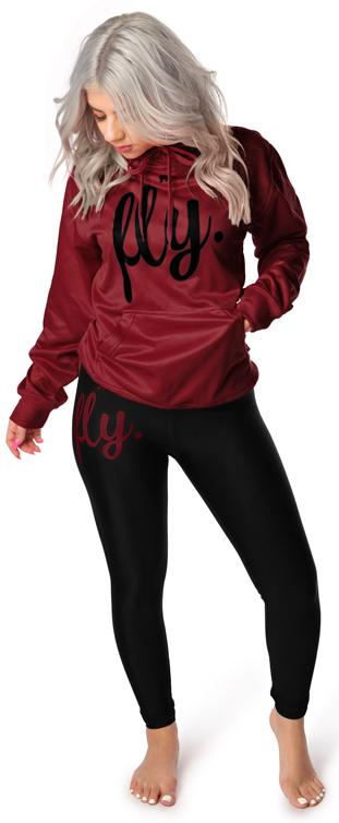 Lifestyle Legging OUTFIT: Hot Maroon/Black