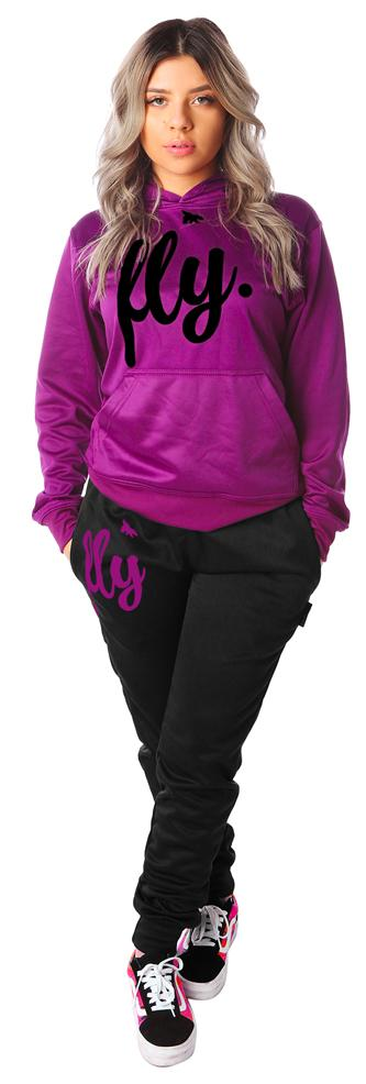 Lifestyle Comfort Hoodie OUTFIT: Berry Purple/Black