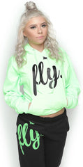 FLY. Comfort Outfit: Lime Green/Black (UNISEX FIT)