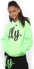 FLY. KIDS Comfort Outfit: Lime Green/Black
